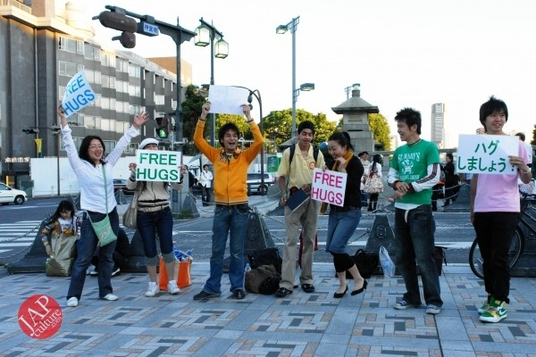 Free hugs struggle in Japan vol.1 Can we do it really smoothly and naturally? (16)
