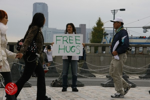 Free hugs struggle in Japan vol.1 Can we do it really smoothly and naturally? (4)
