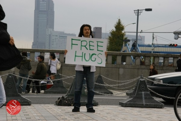 Free hugs struggle in Japan vol.1 Can we do it really smoothly and naturally? (3)