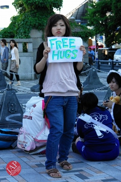 Free hugs struggle in Japan vol.1 Can we do it really smoothly and naturally? (10)