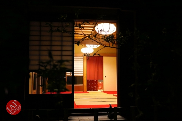 Weeping cherry tree (Shidarezakura) in Rikugien illumination attracts many people.0015